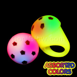 Fun Central I548 LED Light Up Jelly Soccer Ball Rings - Assorted