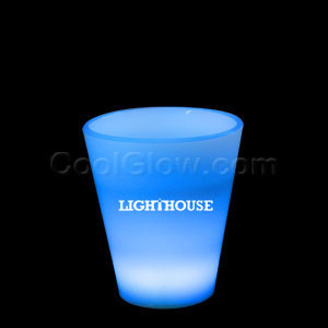 Glow LED Shot Glass - 2 oz. Blue