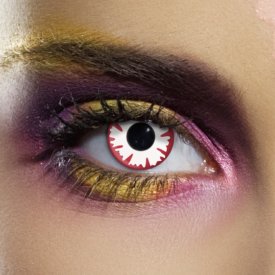 Novelty Contact Lenses - White Demon