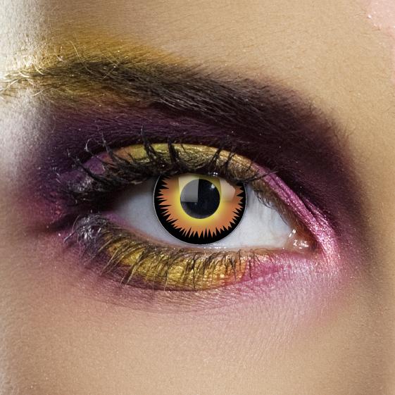 Novelty Contact Lenses - Orange Werewolf