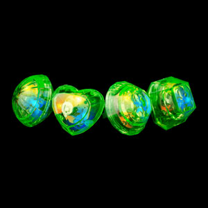 LED Jumbo Gem Rings - Green