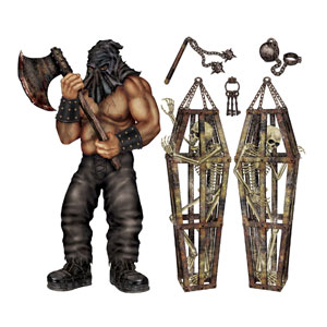 Executioner and Skeleton Wall Props - 6ct