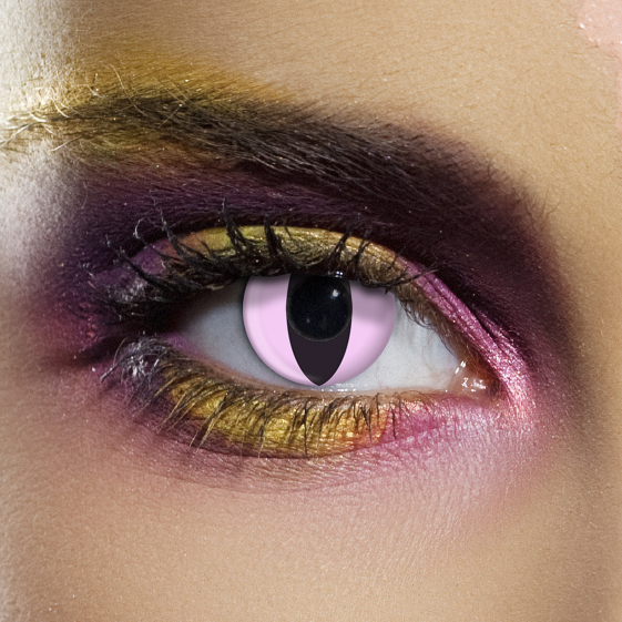 Novelty Contact Lenses - Pink Cat