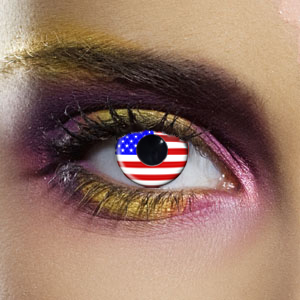 Novelty Contact Lenses - American Flag