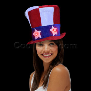 LED Uncle Sam Light Up Hat