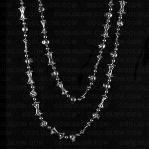skull-bones-42-inch-beads-antique-silver