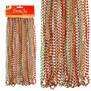 Metallic 30 Inch Bead Necklaces- 24ct