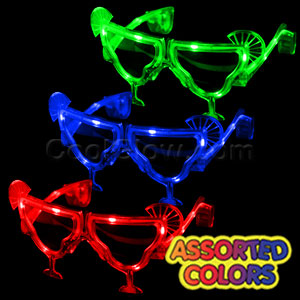 LED Margarita Sunglasses - Assorted
