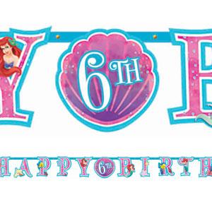 Disney Little Mermaid Add-An-Age Letter Banner- 10ft