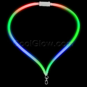 Fun Central G750 LED Light Up Flashing Lanyard - Multicolor