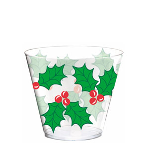 Holly Plastic Tumblers- 9oz. 40ct