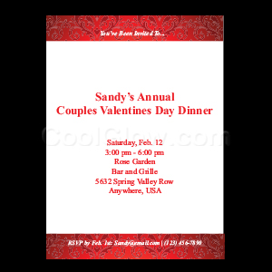 Elegant Red - Custom Invitations