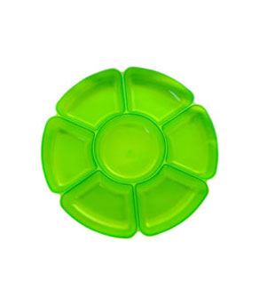 Neon 16 Inch Sectional Serving Tray - Green - Coolglow.