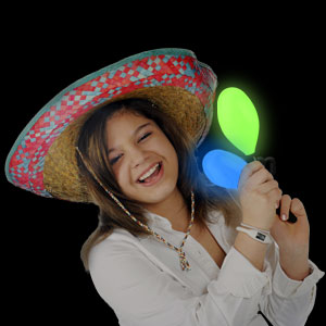 Fun Central AC702 LED Light Up Maraca Supreme - Multicolor 7 Inch