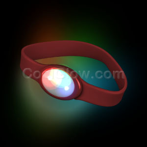 LED Silicon Wristband - Red