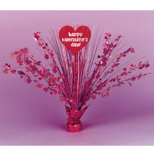 Red and Pink Heart Spray Centerpiece
