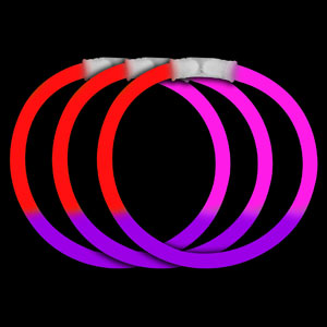 8 Inch Glow Bracelets - Red-Purple-Pink