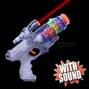 LED Barrel Gun With Laser