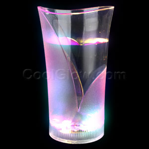 LED 12oz Liquid Activated Frosted Glass - Multicolor