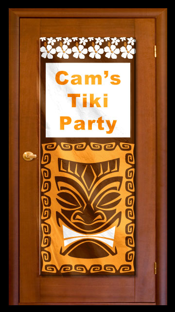 Tiki Island - Custom Door Banner