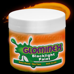 Glominex Blacklight UV Reactive Paint Pint - Orange