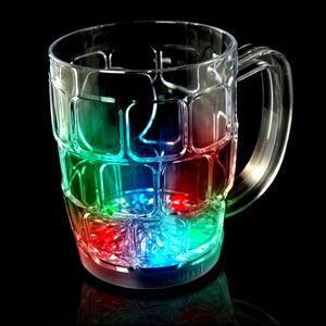 LED Flashing Beer Mug - 16 oz.