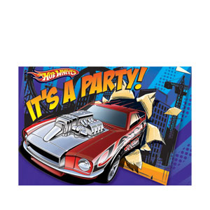 Hot Wheels Invitations- 8ct