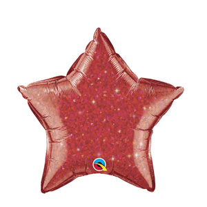 Red Crystalgraphic Star Balloon - 20 inch