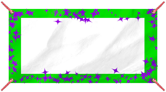 Green and Purple Glitz - Custom Banner