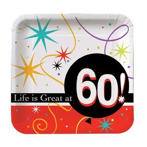 Life is Great at 60 Luncheon Plates - 8ct