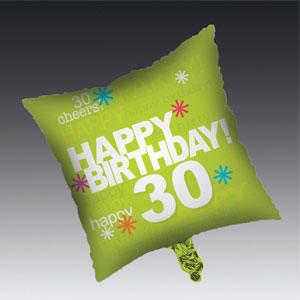 Time to Party 30th Balloon - Metallic