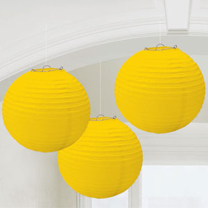 Yellow Round Lantern- 3ct