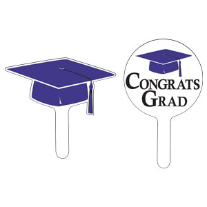 Grad Cap Cupcake Pick - Purple