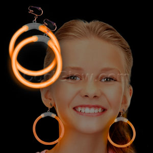 Glow Earrings - Orange