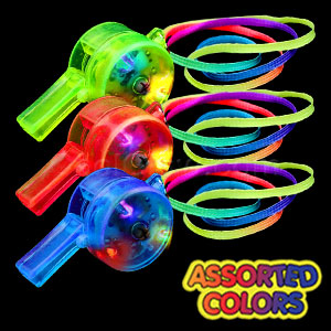 Fun Central T003 LED Light Up Drum Whistle - Assorted