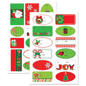 Holiday Fun Adhesive Gift Tags- 100ct