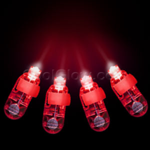 LED Finger Lights - Red 4ct