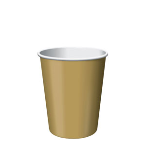 Gold 9 oz. Cups- 24ct