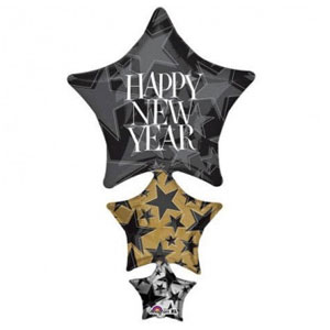 New Year's Stacker Balloon 42 inches