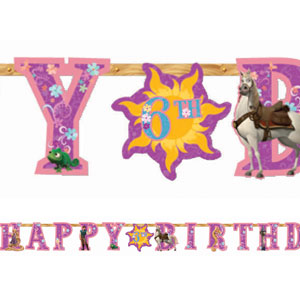 Disney Tangled Add-An-Age Letter Banner- 10ft