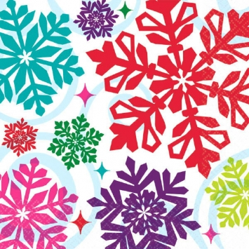 Bright Holiday Luncheon Napkins