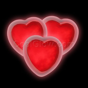 Glow Badge Heart - Red