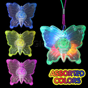 LED Butterfly Necklace