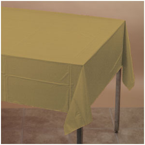Gold Plastic Tablecover