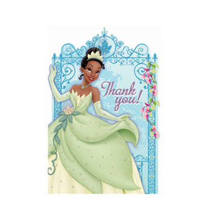 Disney Princess and The Frog Thank You Cards- 8ct