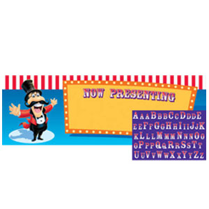 Big Top Birthday Giant Party Banner with Stickers
