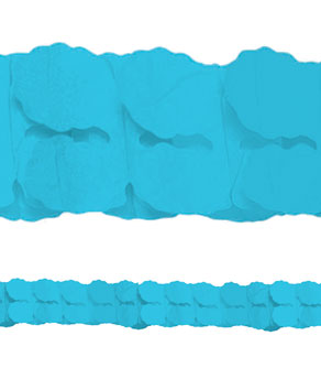 Blue Paper Garlands- 12ft