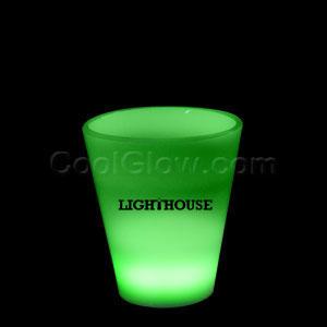 Glow LED Shot Glass - 2 oz. Green