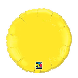 18 Inch Round Metallic Balloon - Yellow