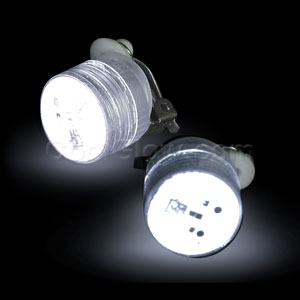 LED Clip On Blinky Light - White
